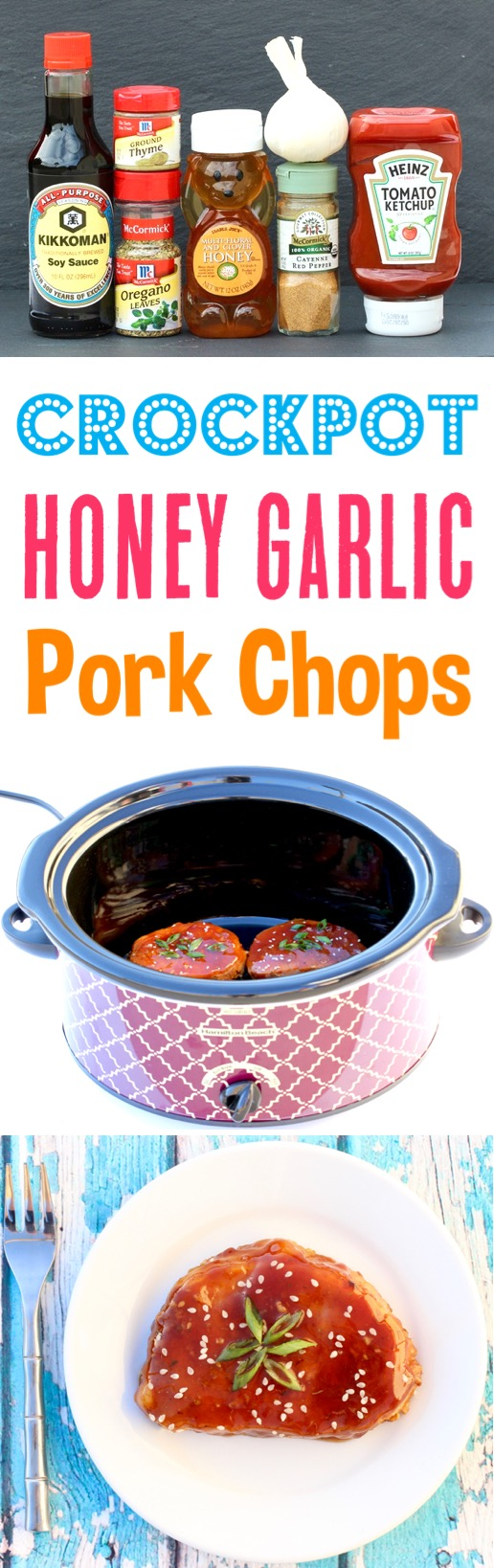 Crockpot Honey Garlic Pork Chops Recipe Easy Dinner