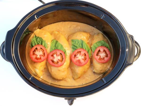 Crockpot Tomato Alfredo Chicken Recipe Easy