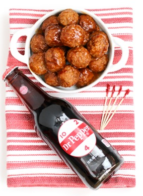 Instant Pot Cocktail Meatballs Recipe {BBQ Dr. Pepper} at TheFrugalGirls.com
