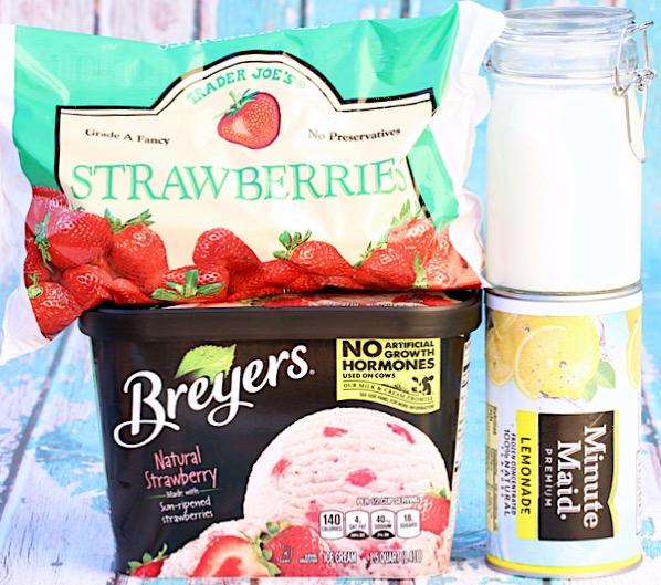Strawberry Lemonade Milkshake Recipe