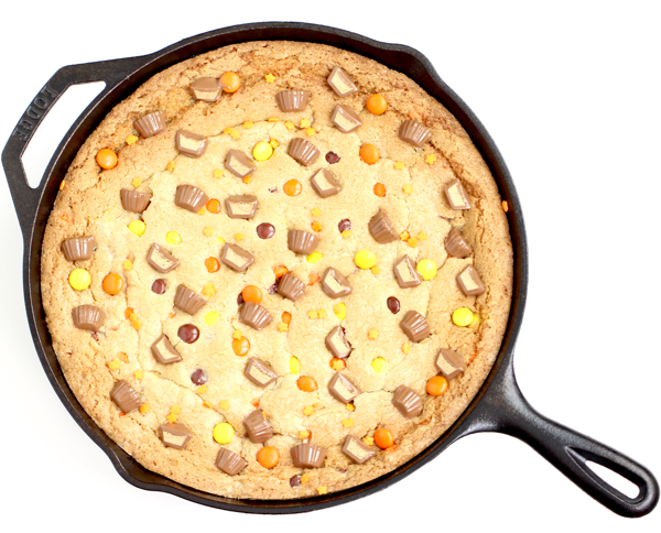 Peanut Butter Cup Skillet Cookie