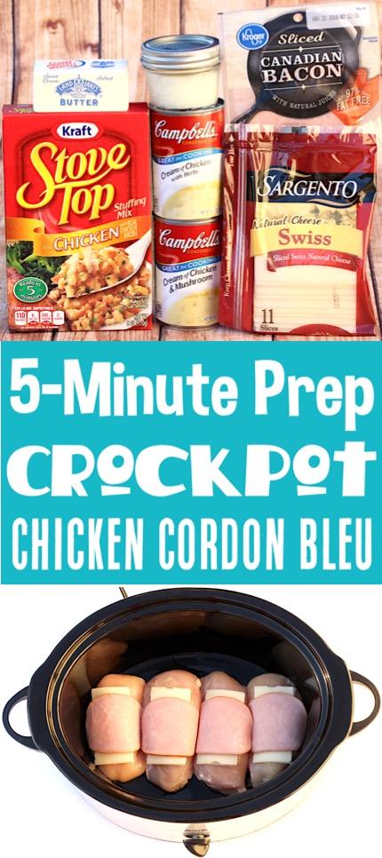 Crockpot Chicken Recipes Easy Crock Pot Cordon Bleu