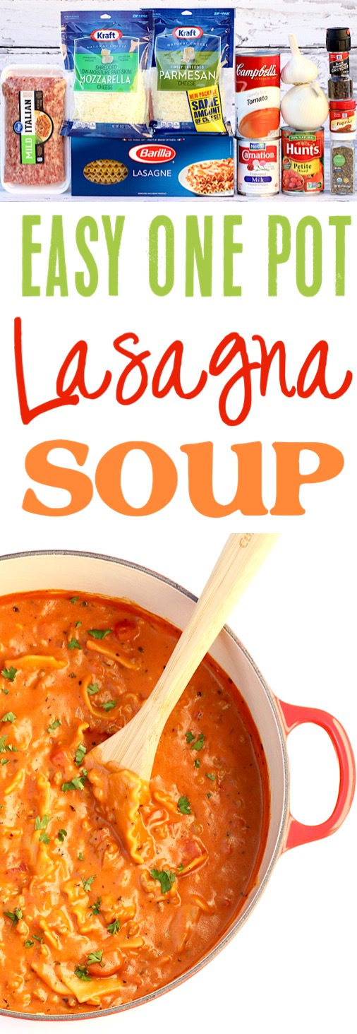 Lasagna Soup Easy One Pot Recipe