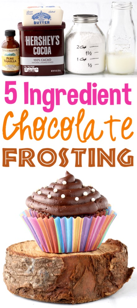 Chocolate Frosting Recipe Easy Homemade Buttercream Just 5 Ingredients | the Best Frosting for Cake Desserts or Cupcakes