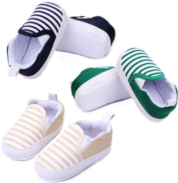 Free Striped Canvas Slipon Shoes