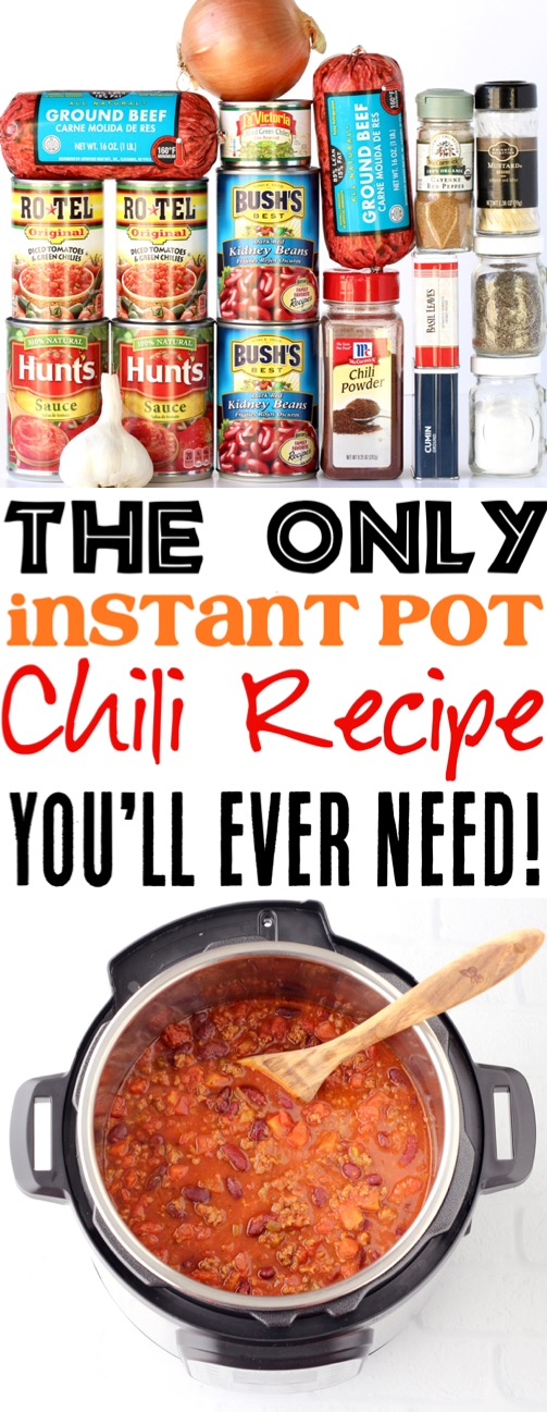 Instant Pot Chili Recipe Simple Ground Beef Pressure Cooker Recipes