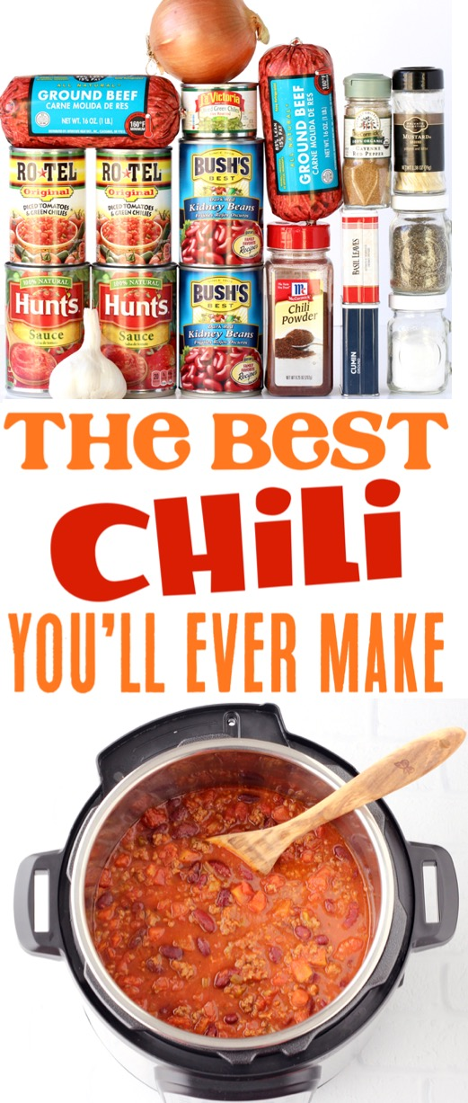 Instant Pot Chili Recipe with Ground Beef