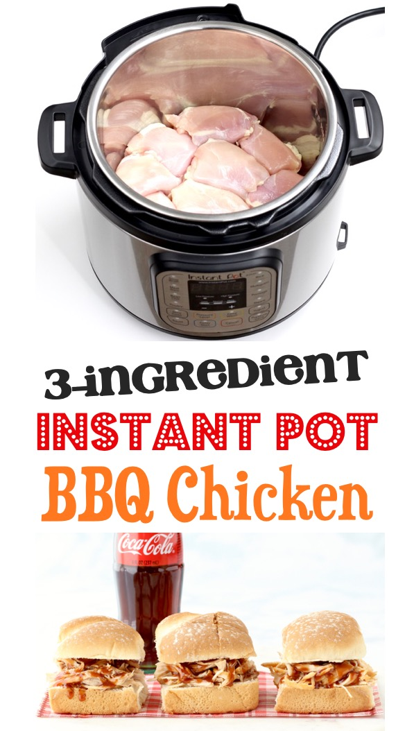 Instant Pot Chicken Recipes Simple Easy Barbecue Meals 3 Ingredients BBQ Coke Chicken Recipe
