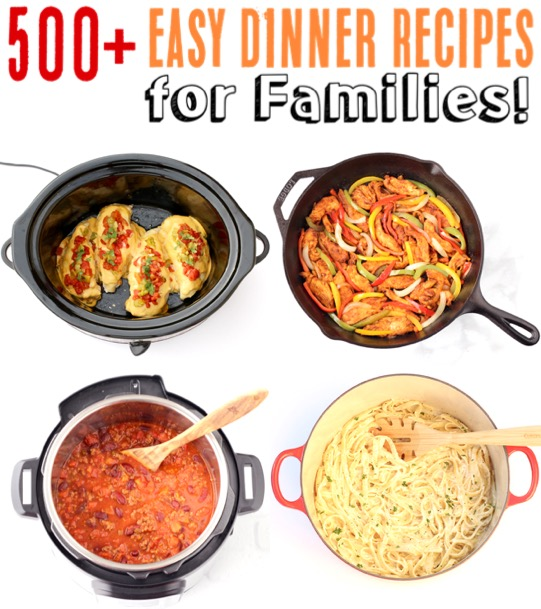 Easy Dinner Recipes for Families - Cheap and Frugal Dinners Both Kids and Adults will LOVE