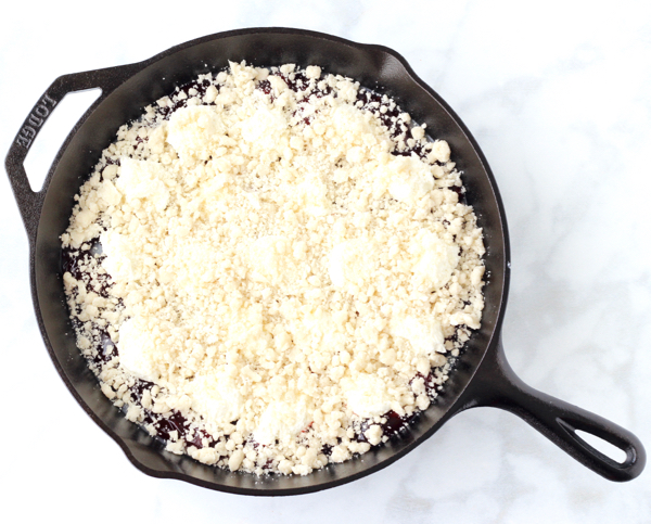 Skillet Strawberry Crumble
