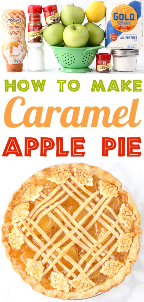 Caramel Apple Pie Recipe with Easy Homemade Filling