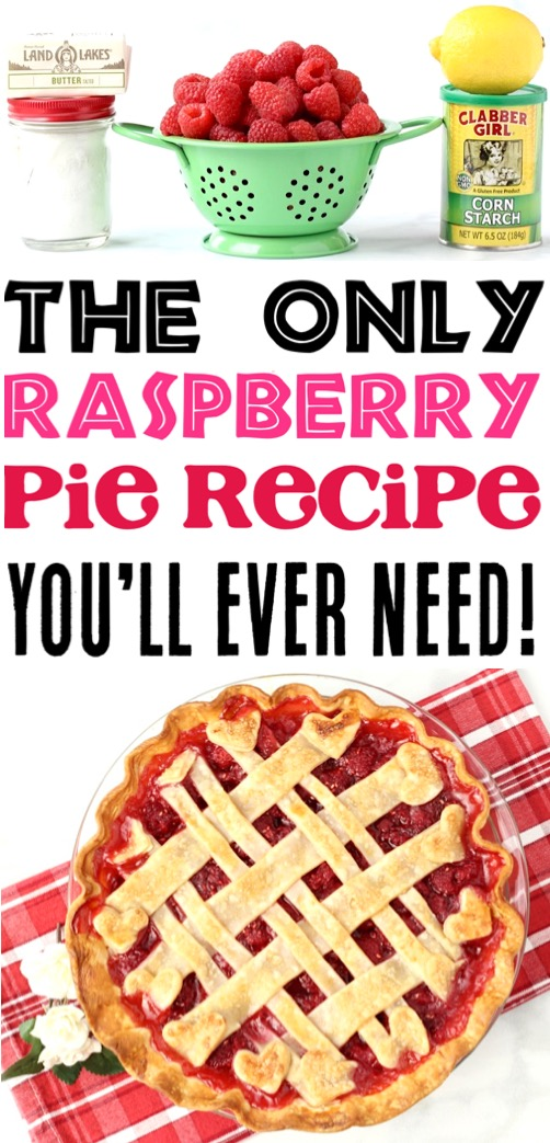 Raspberry Desserts Recipes - Easy Raspberry Pie Recipe with Homemade Filling