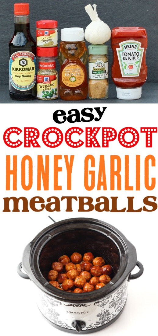 Crockpot Meatballs Recipe - Easy Honey Garlic Meatball Recipe