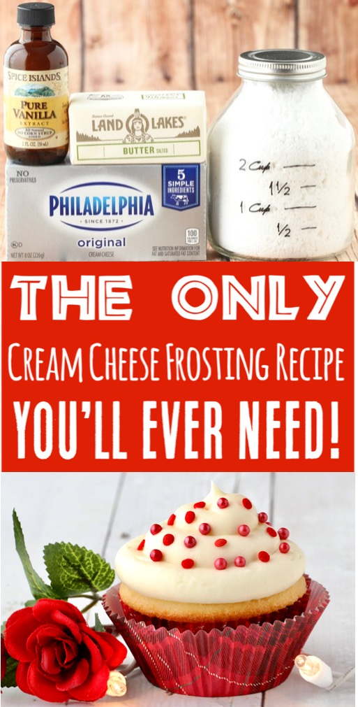Frosting Recipes Easy Cream Cheese Powdered Sugar Frosting for Cookie, Cupcake and Cake Decorating