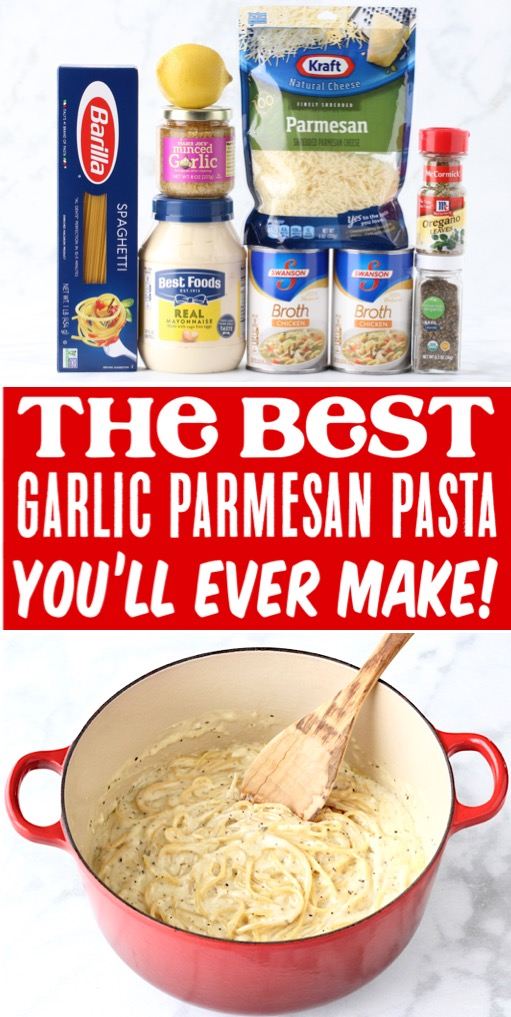 Pasta Recipes for Dinner Easy Garlic Parmesan Spaghetti