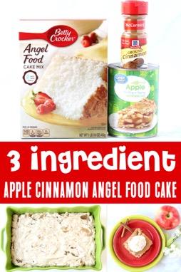 Apple Desserts - Angel Food Cake Recipe