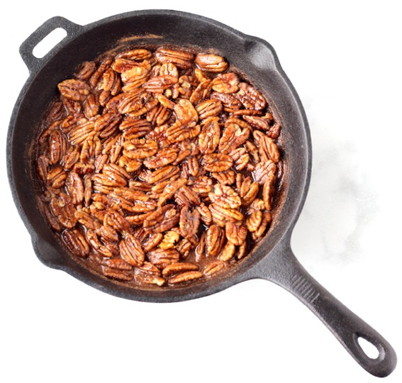 Candied Pecans in Cast Iron Skillet Recipe