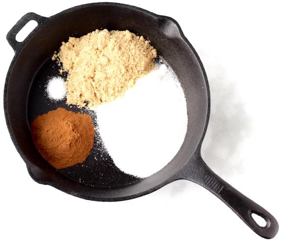 Cinnamon Sugar Pecans in Skillet Easy