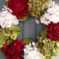 DIY Hydrangea Wreath for Front Door!  {Make it in 5 Minutes}
