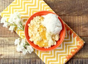 Peaches and Cream Cobbler Easy