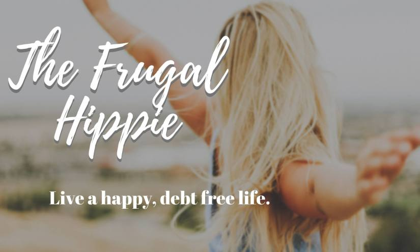 The Frugal Hippie Woman with hands out in freedom