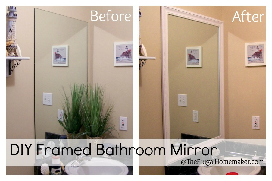 custom frames for existing bathroom mirrors | louisiana bucket brigade