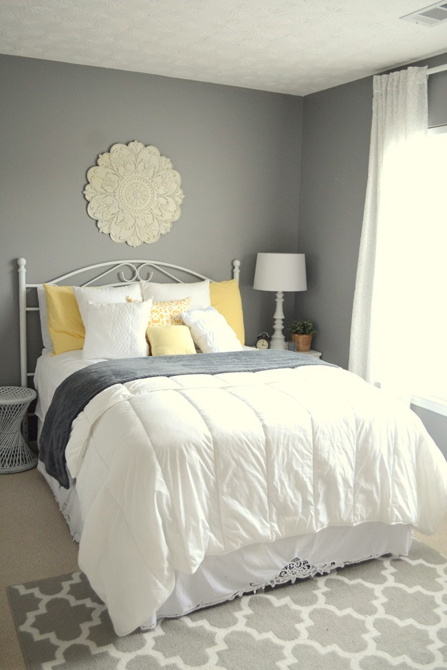 Guest bedroom at our first home