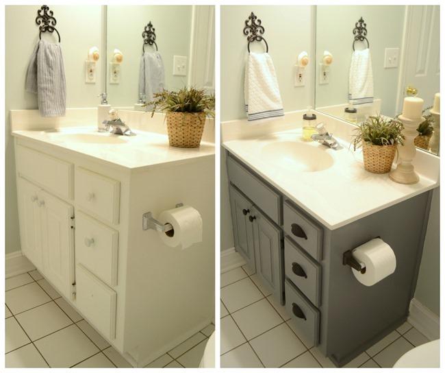 Guest Bathroom Update Farmhouse Style Bathroom Gray