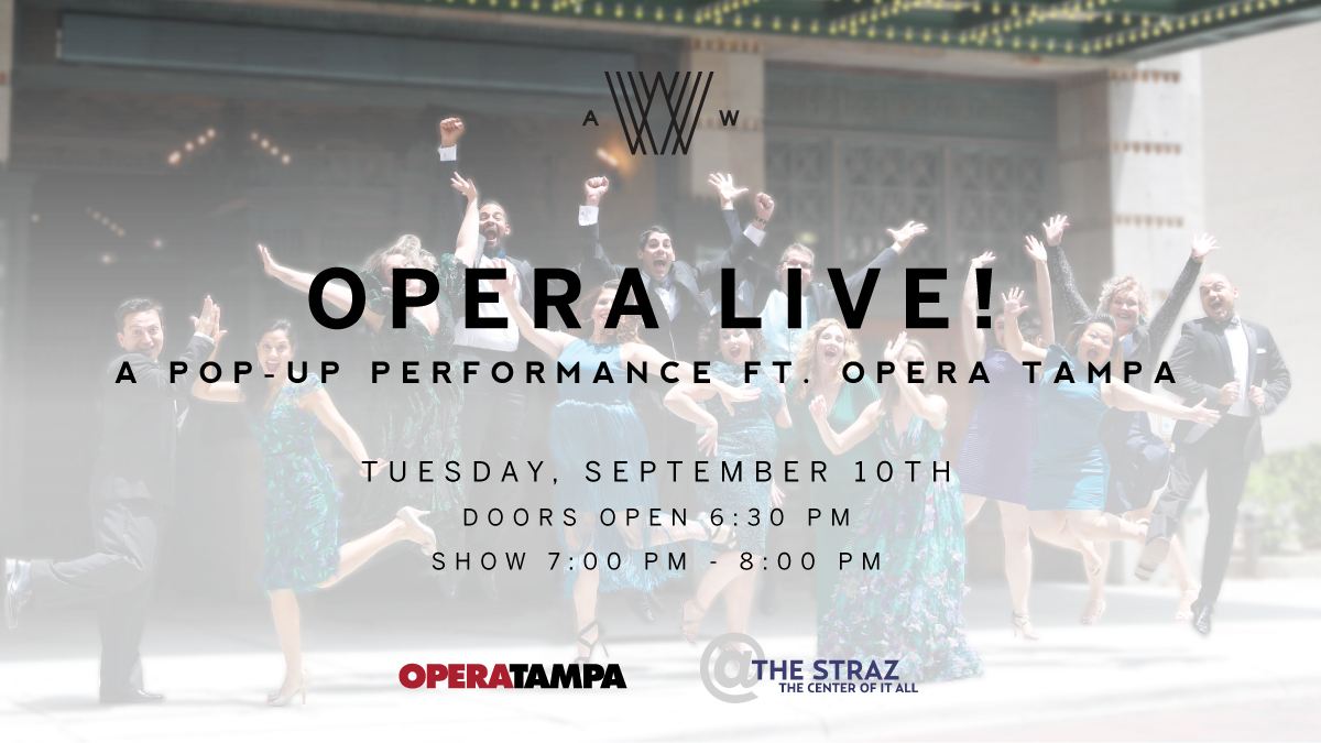 Opera Tampa, Armature Works, and The Straz Center kick off 2019-2020 season with Opera Live! concert tonight