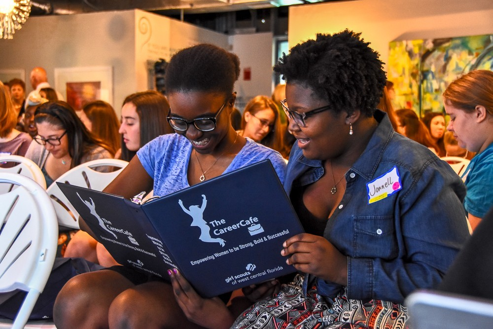 Girl Scouts' The Career Café equips young girls with important job-hunting skills