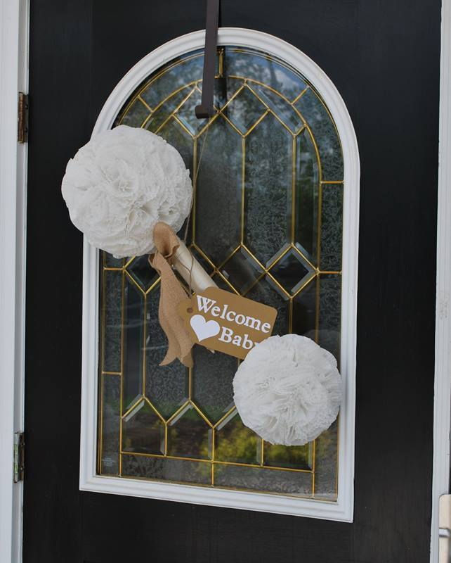 DIY Baby Rattle Door Hanger