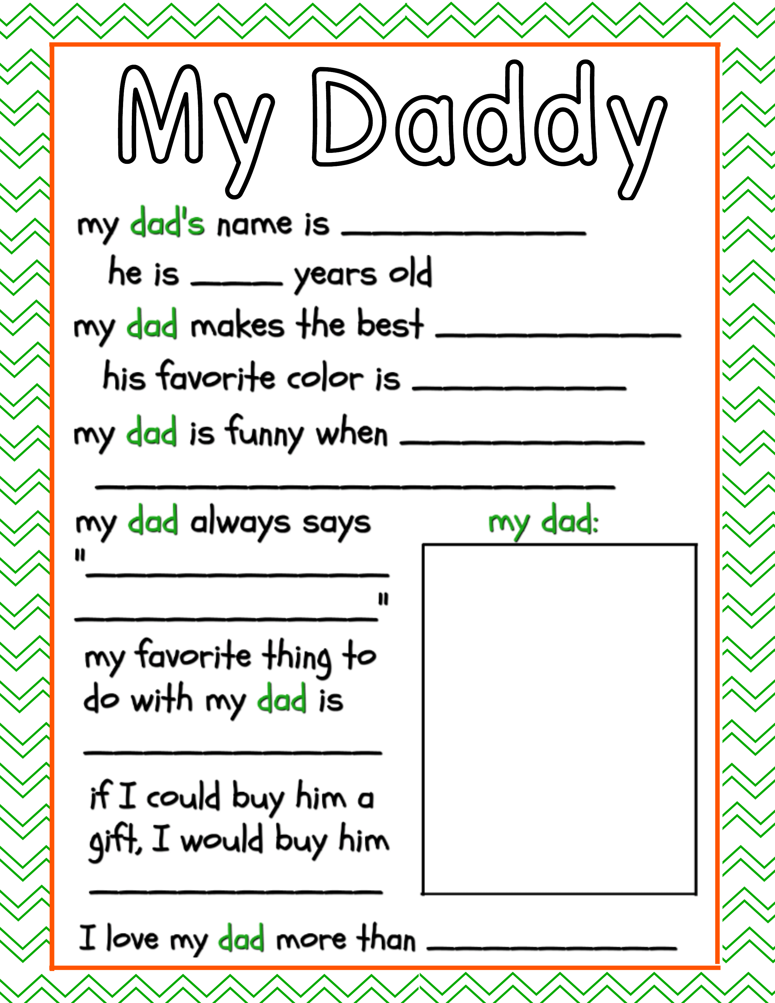 photograph about Father's Day Questionnaire Printable called All Pertaining to Father Free of charge Fathers Working day Printable ~ The Frugal Sisters