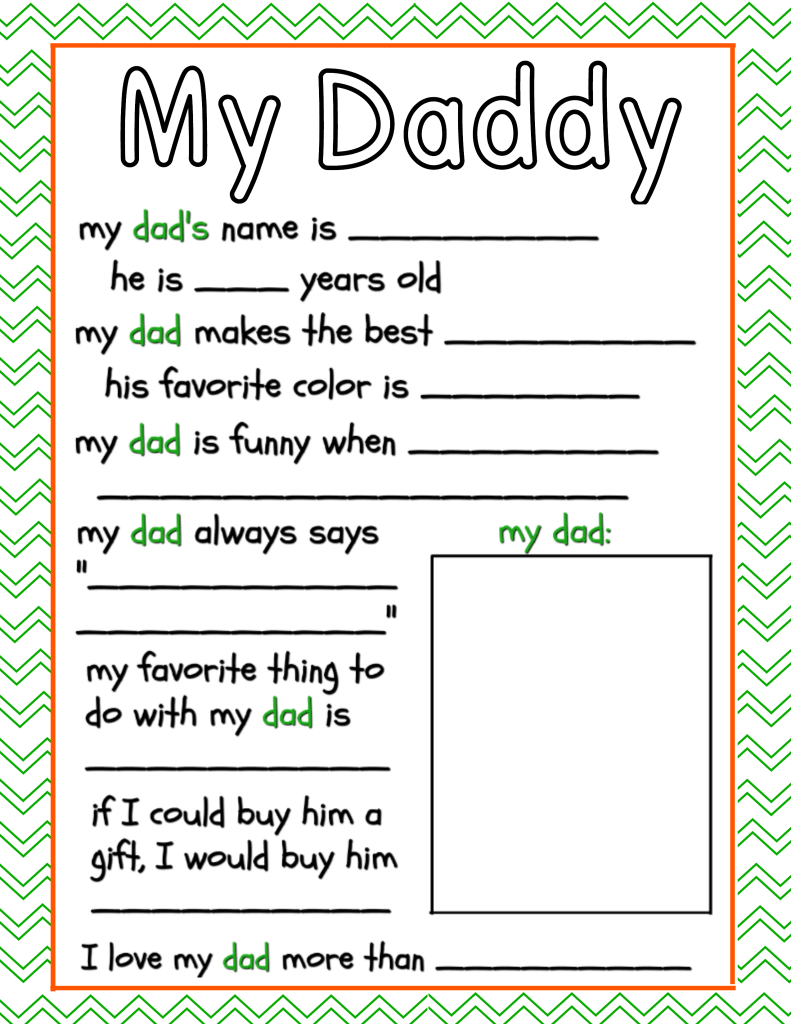 Delicate image for all about my dad free printable
