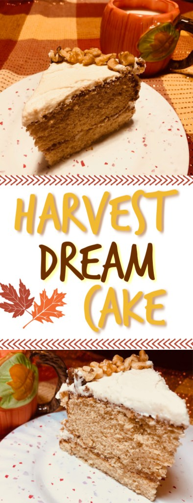 Baked using Swans Down Cake Flour, this delicious Harvest Dream Cake is light and soft, with a perfect, airy texture #DreamCake #FallDessert #HelloFall
