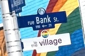 New signs on Bank Street designate Ottawa's gay village