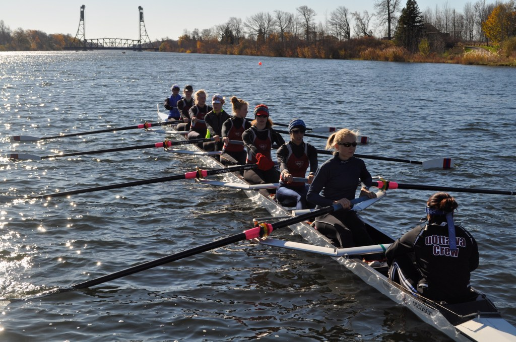 U of O rowing team races in Wellend, Ont. in the CURC