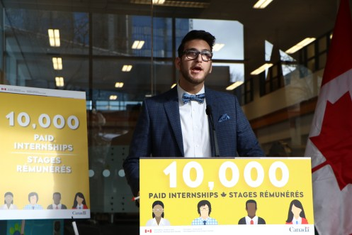 SFUO president Hadi Wess hosted the event. Photo: Parker Townes