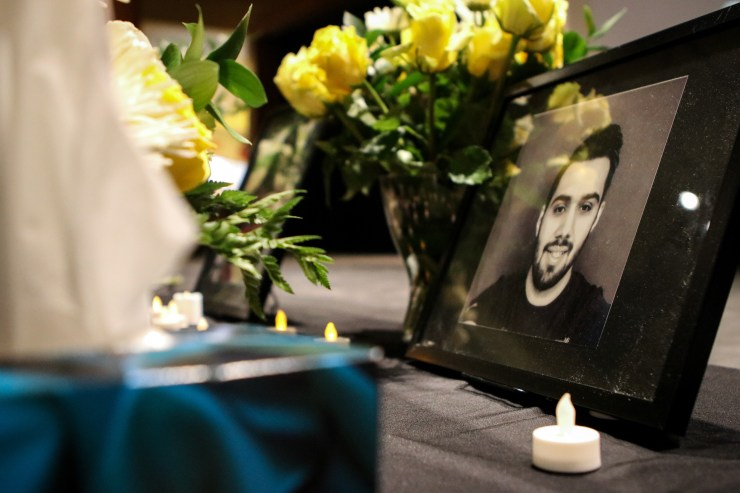 Several guests shared personal memories and stories of the victims. Photo: Aaron Hemens/Fulcrum