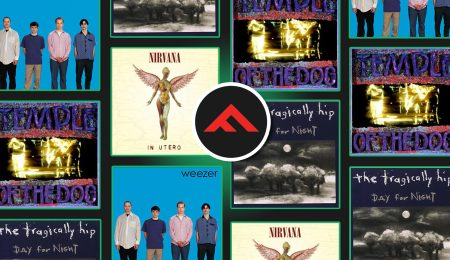 The covers of Temple of the Dog, In Utero, the Blue album and Nautical Disaster