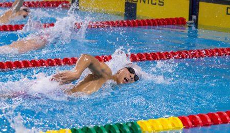 Allan Zheng in the pool