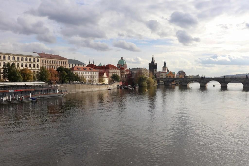 Prague riverscape with Charles Bridge