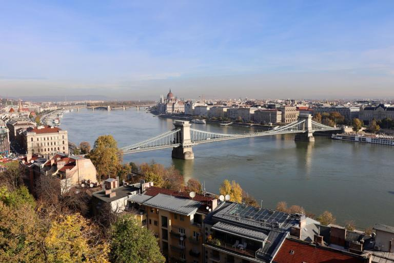 Budapest cityscape with Danube river