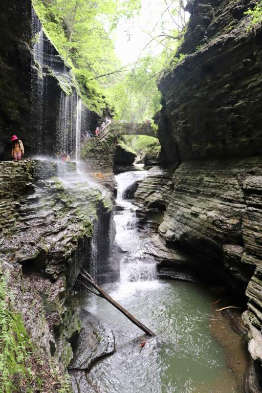 Water running through the gorge in Watkins Glen