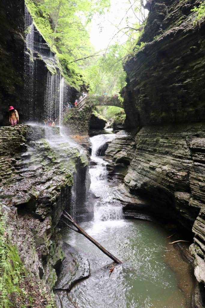 Water running through the gorge in Watkins Glen. The best part of our Finger Lakes weekend getaway was hiking this gorgeous park.