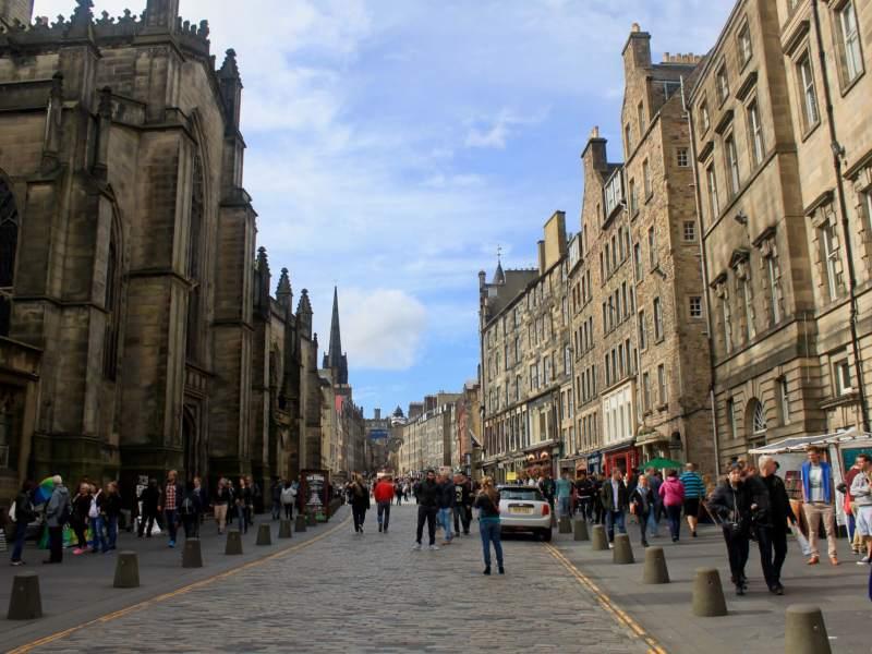 The Royal Mile in Edinburgh