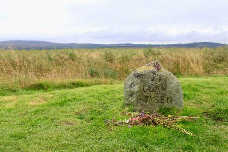 Clan Fraser gravestone with flowers