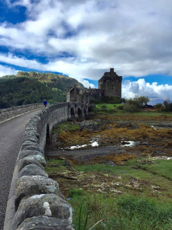 Stone bridge to castle