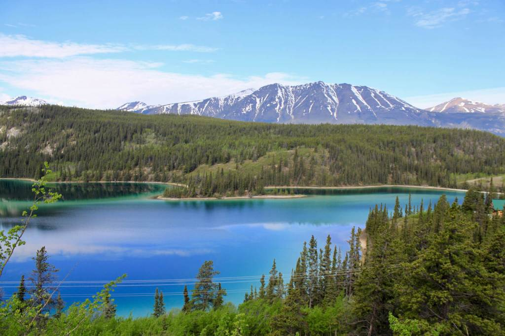 Emerald Lake with forest and mountains