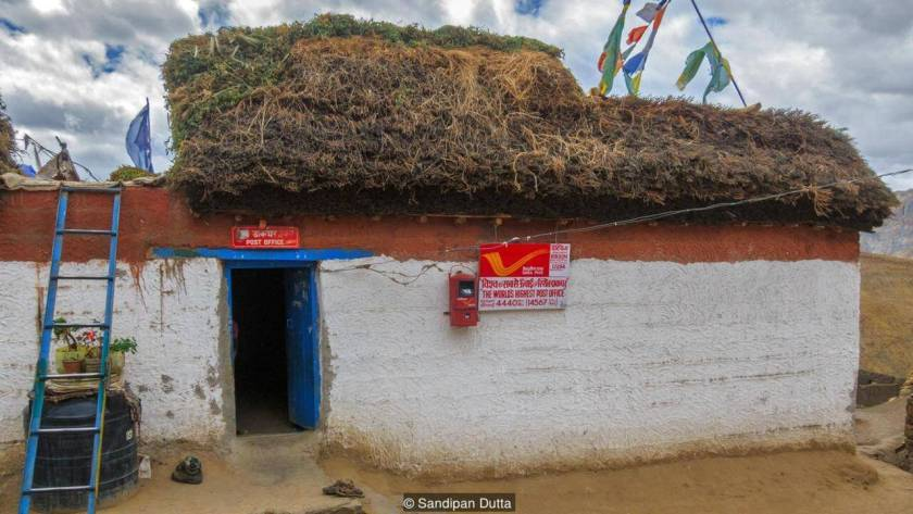 post office in remote Himalayan India