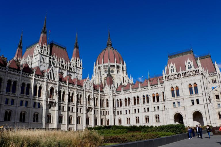 Side view of Hungarian Parliament Building